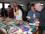 Brisk business at the book table