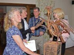 Artist Carry Akroyd & others at the exhibition