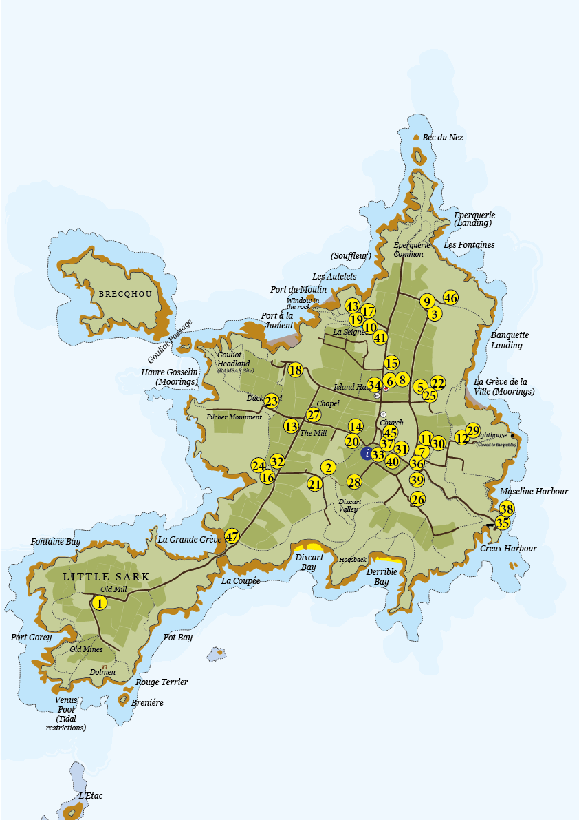 Map Of England 2015.Map Sark Island Tourism