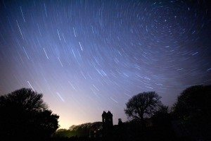 Star Trails above La Seigneurie Purchased SD reduced