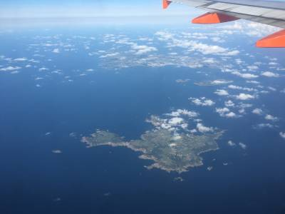 Aerial view of Sark
